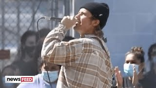 Justin Bieber SURPRISES Fans With In-Person Concert