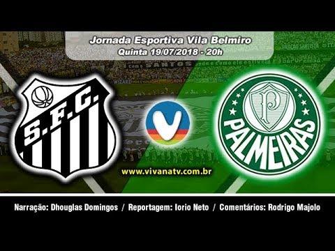 Santos 1x1 Palmeiras | Ao Vivo | Campeonato Brasileiro | 2º Tempo