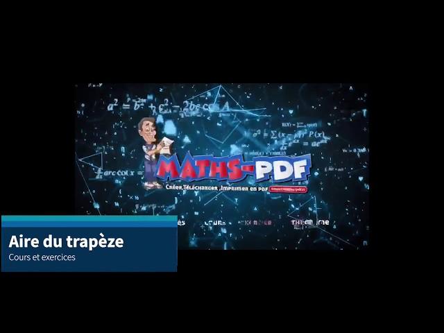 Aire d'un trapèze : cours et exercices de maths en 5ème