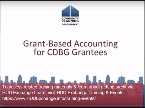 CDBG Webinar: Grant-Based Accounting for CDBG Grantees Webinar - 7/29/15