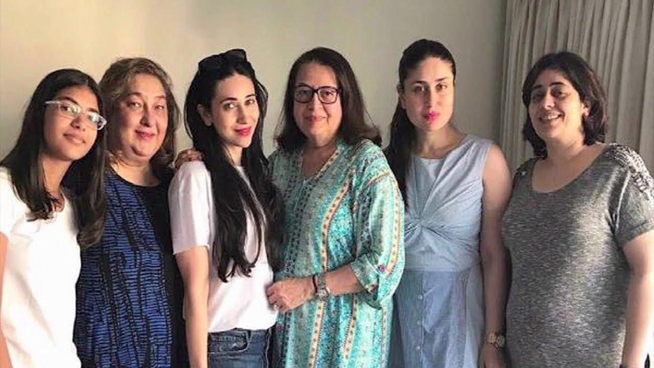 Kareena  Karishma Kapoor Spend Quality Time With Mom -1399