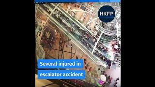 Escalator accident at Hong Kong shopping mall leaves 17 injured