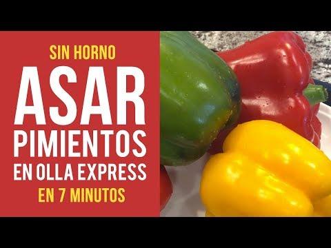 Cómo Asar Pimientos en Olla Express en 7 minutos sin usar Horno