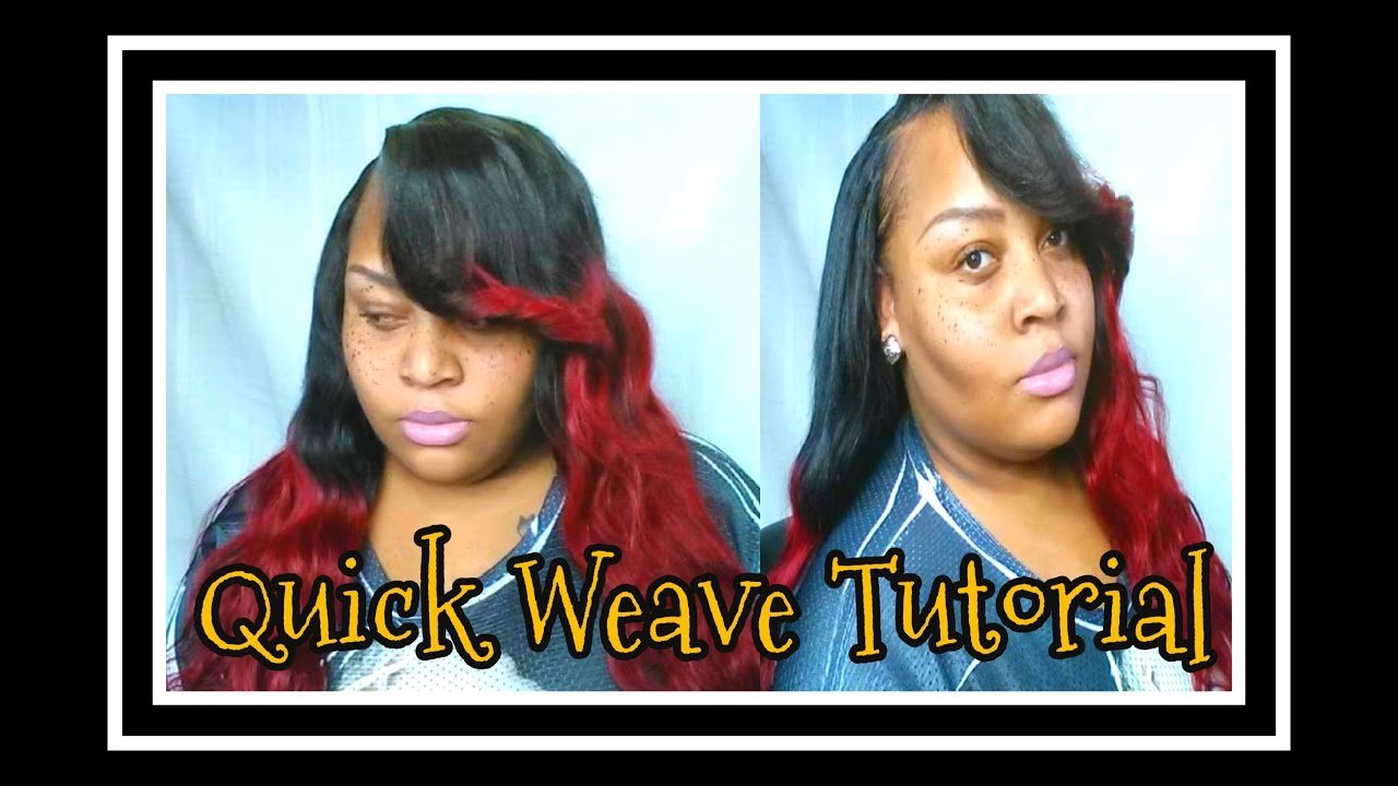 Quick Weave Install Ft Pink Diamond Extensions Hair Youtube