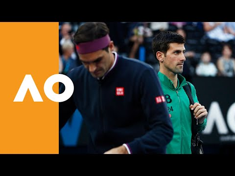 Roger Federer and Novak Djokovic enter Rod Laver Arena (SF) | Australian Open 2020