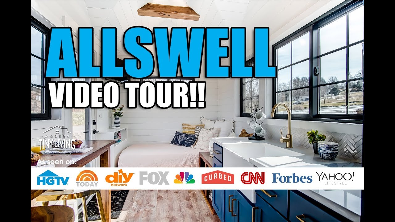 The Allswell 28 ft  Modern Tiny House is FREAKIN' UNBELIEVABLE!