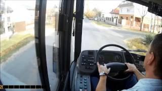VANHOOL NEW AG300 282E Busz BKV. (Cockpit View) Budapest. 2016.