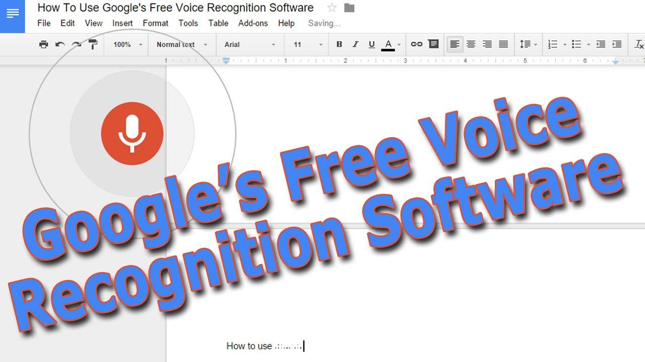free voice recognition programs
