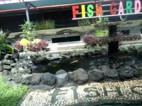 kereta mini asyik di fish garden kota blitar YouTube