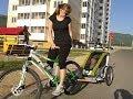 Детский велоприцеп. Велосипедная прогулка с ребёнком в специальном прицепе