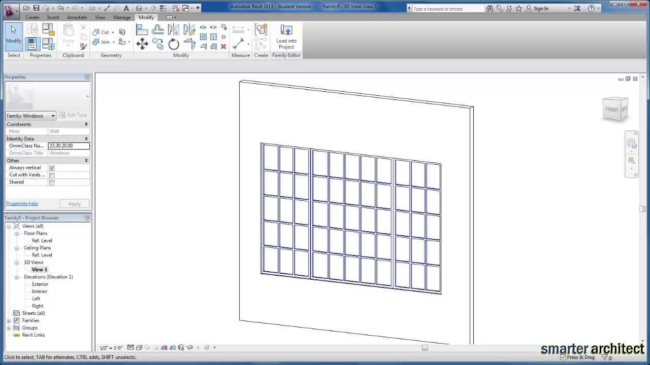 Creating a new window family tutorial with revit and virtusurv.