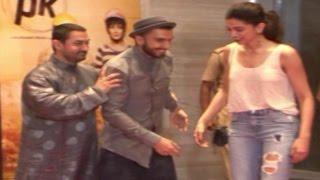 Aamir Khan TRIES to get Ranveer Singh & Deepika Padukone CLOSER