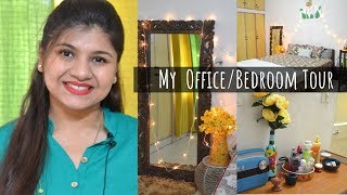 My Office / Bedroom Tour | Indian Master Bedroom Tour | Room Decor Ideas
