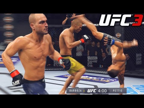 AGGRESSIVE Anthony Pettis! Cartwheel Kicking Me! EA Sports UFC 3 Online Gameplay