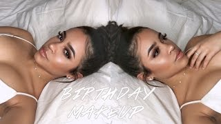 MY SULTRY AND GLAM BIRTHDAY MAKEUP TUTORIAL! | Maria Bethany thumbnail
