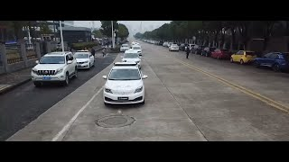 Self-driving taxis hit road in Wuhan