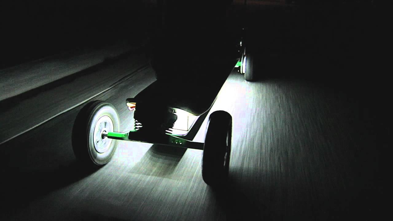 LED Lighting on Electric SkateBoard Night Ride  YouTube