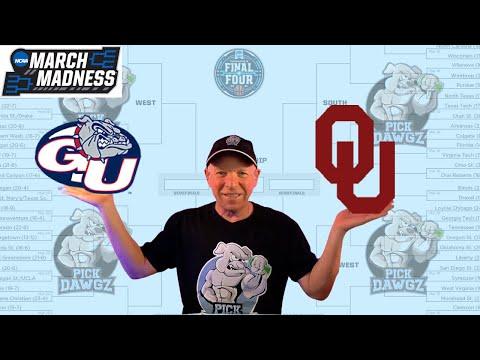 Gonzaga vs Oklahoma 3/22/21 Free College Basketball Pick and Prediction NCAA Tournament