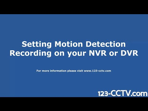 How to set Motion Detection Recording on your DVR NVR