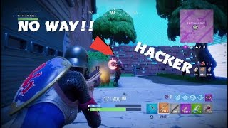 I found a HACKER in fortnite: Battle Royal!!!