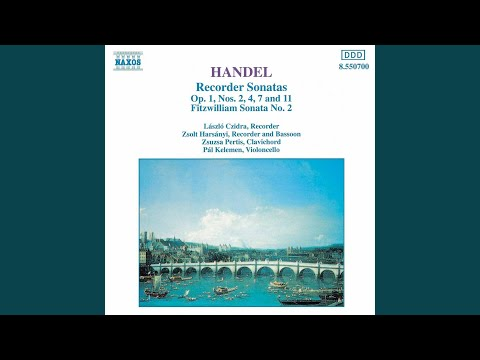 Recorder Sonata in A Minor, Op. 1 No. 4, HWV 362: IV. Allegro