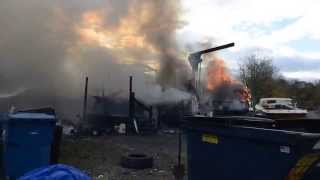 Boatyard Fire in Penn Township, Pa