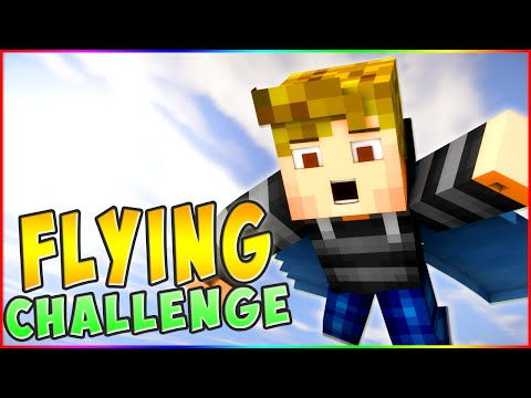 *EPIC* FLYING OBSTACLE PARKOUR! Minecraft ` ELYTRA FLYING CHALLENGE!