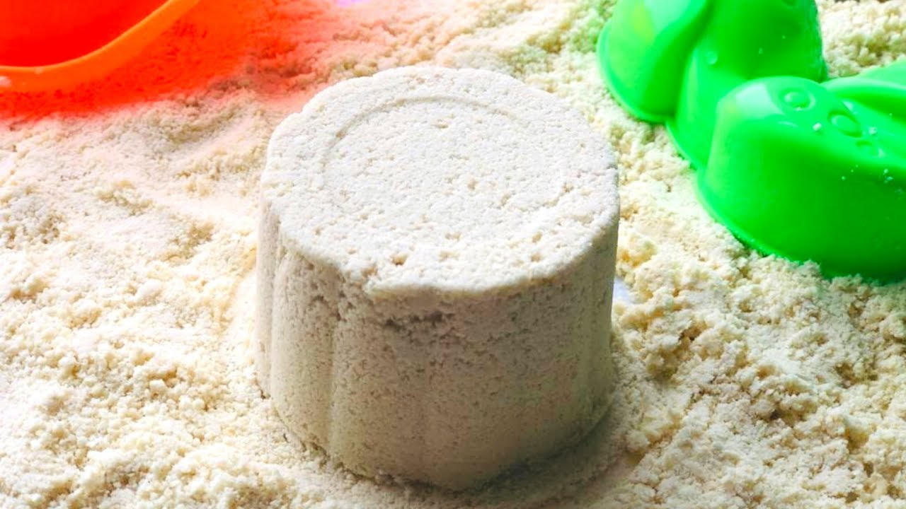 🏖 DIY Kinetic Sand made with home products 🏖 Safe Taste Recipe for our kids 🏖