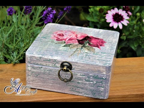 Decoupage Tutorial - Shabby Chic Box With Vintage Roses - DIY