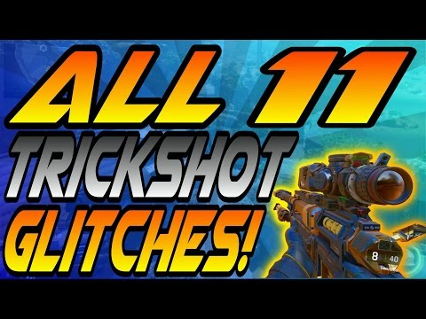 ALL 11 Working Trickshot Glitches/Spots! - On Top of Maps & High Ledges! (CoD Black Ops 3/BO3)