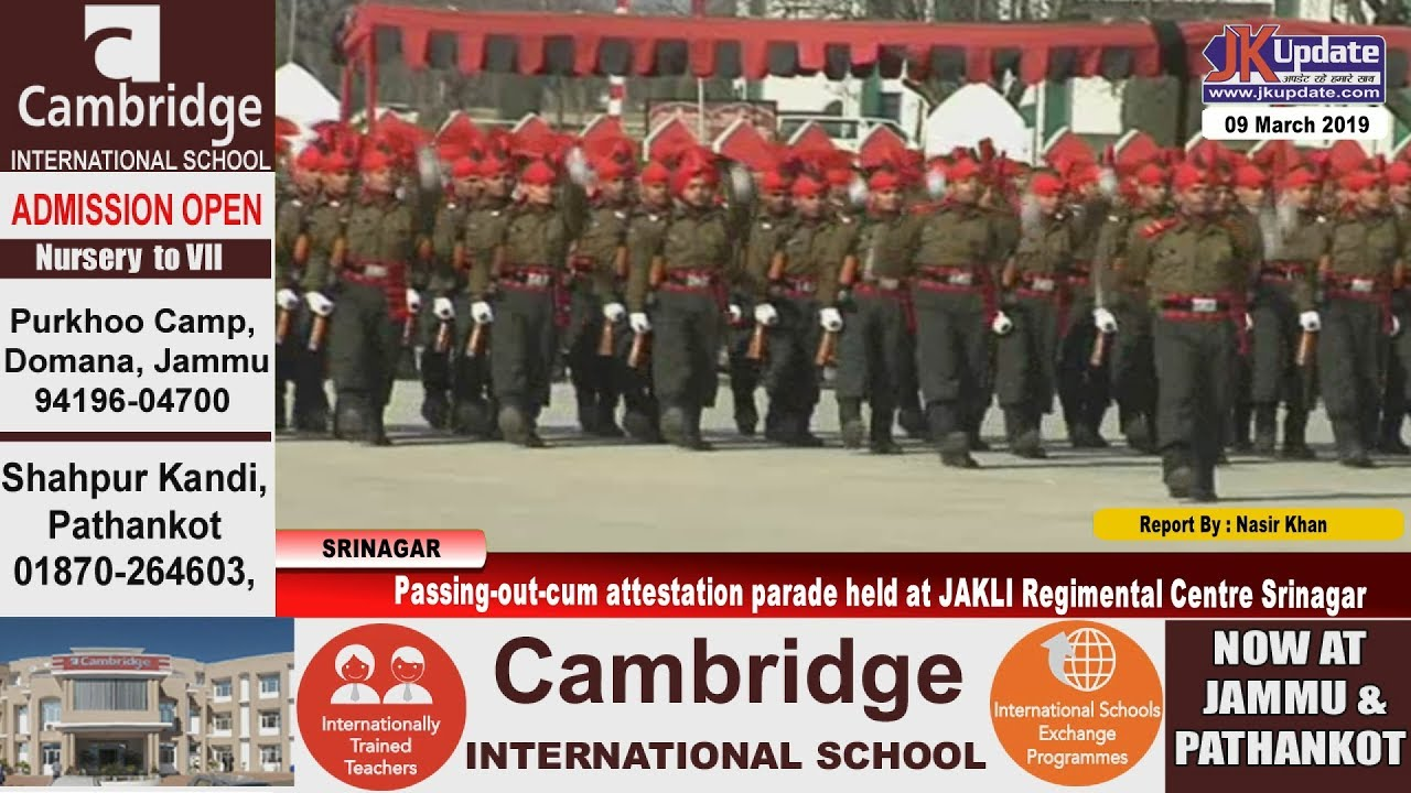 Passing-out-cum attestation parade held at JAKLI Regimental Centre Srinagar