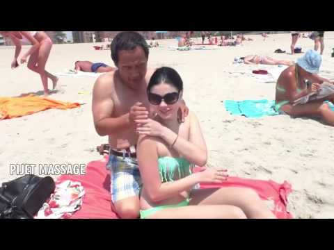 Russian Women getting spiritual Piject Massage at Goa beach  2016