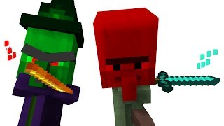 Villager Baby Life  & Witch Baby Life 1 - Minecraft Animation (MOST EPIC ANIMATION BATTLE MOVIE)