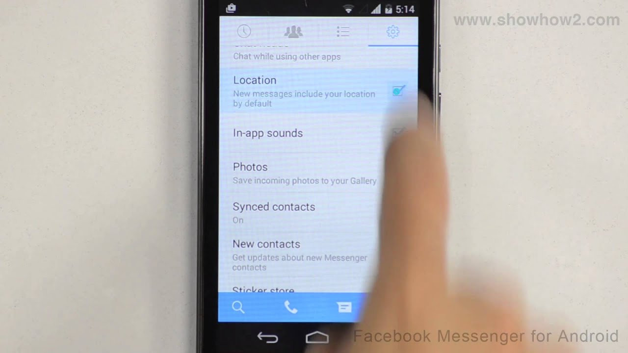 facebook messenger for android how to disable showing your location in messages youtube