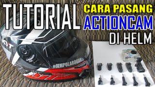 tutorial cara pasang mounting actioncam di helm   malang motovlog   motovlog gear 2