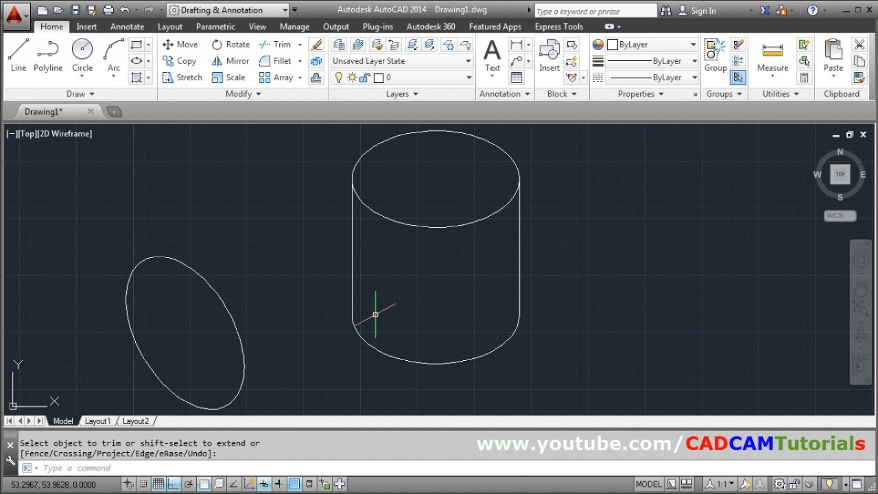 How to Draw Circle & Cylinder in Isometric View in AutoCAD