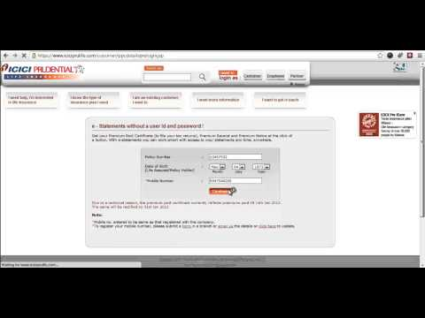 ICICI Prudential Status Online