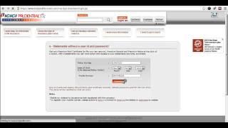 ICICI Prudential Status Online