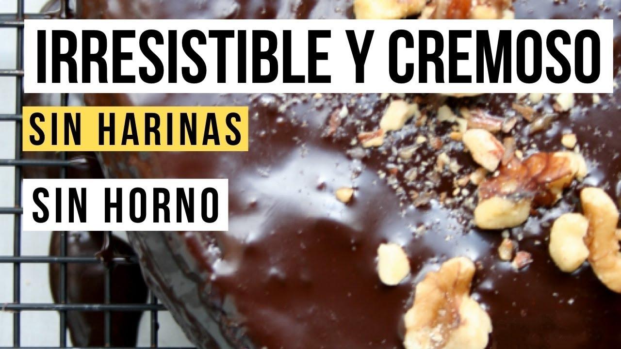 Torta de chocolate sin horno sin harinas