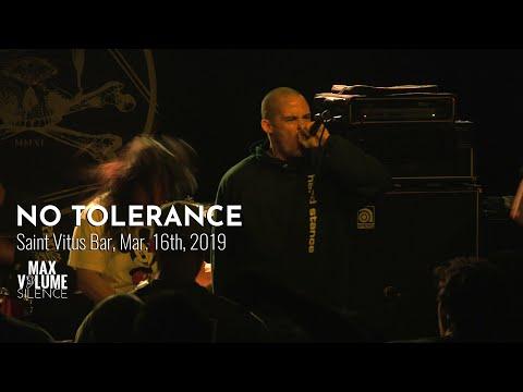 NO TOLERANCE Live At Saint Vitus Bar, Mar. 16th, 2019 (FULL SET)