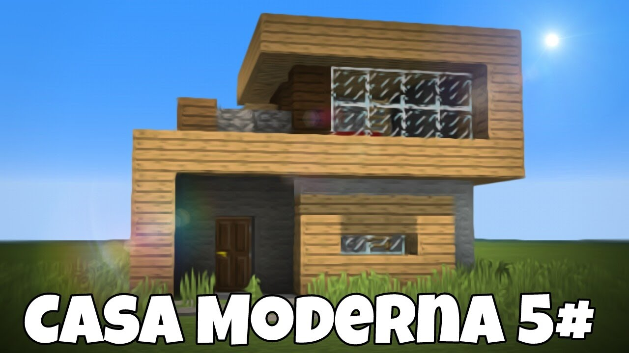 Minecraft pe como hacer una casa survival para minecraft for Casa moderna 10x10 minecraft