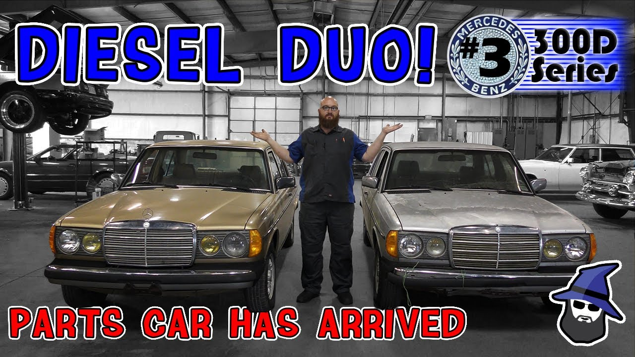 Diesel Duo! Parts car for '84 Mercedes 300D restore arrives. How bad is it?