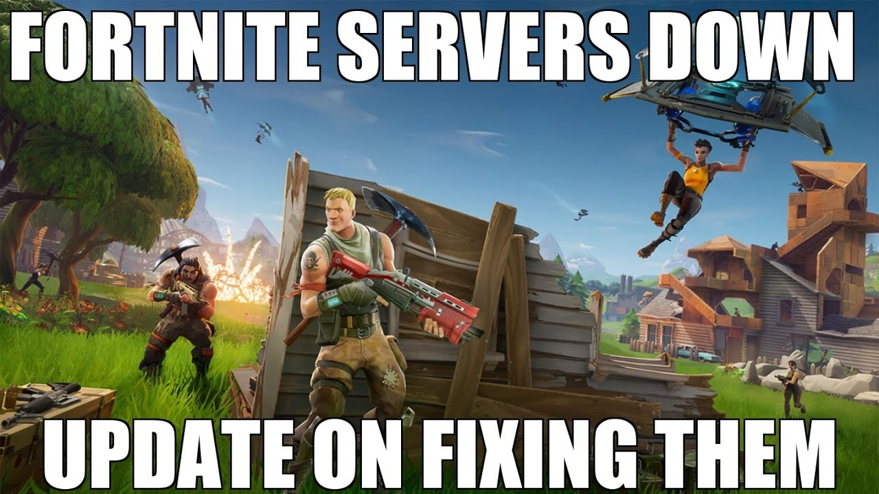 FORTNITE SERVERS DOWN UPDATE. FIXING THEM QUICKLY - YouTube