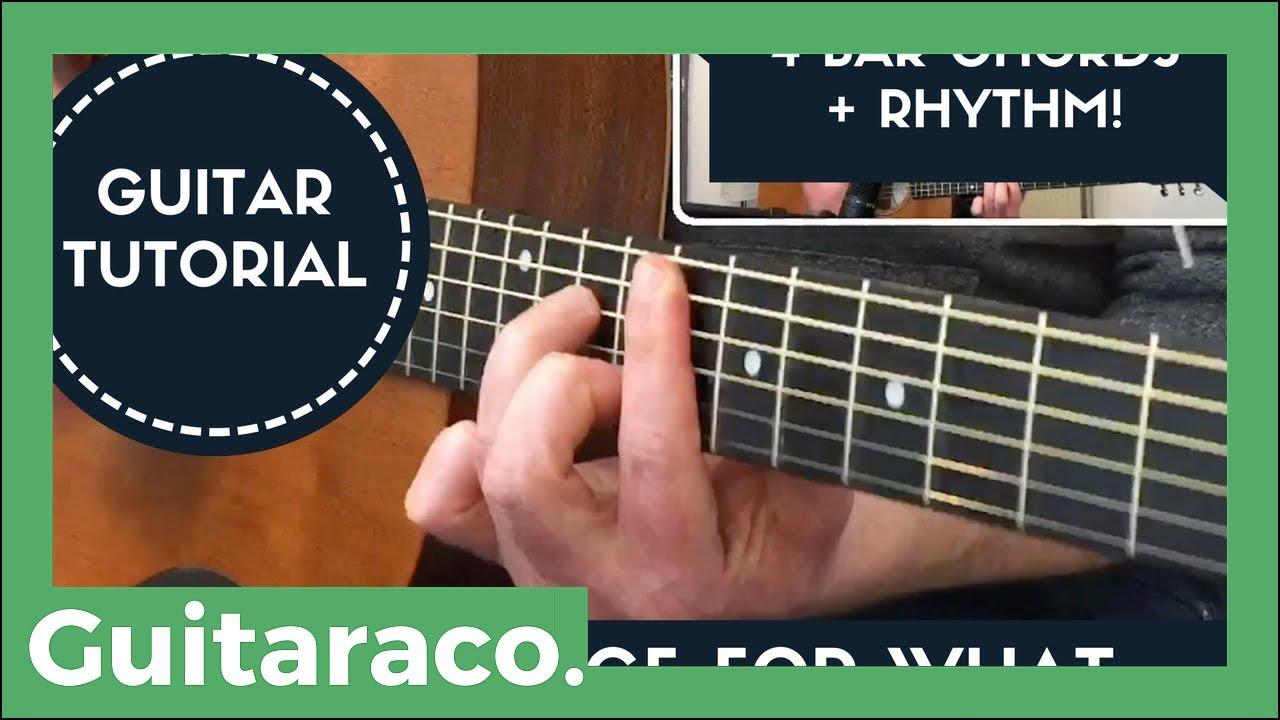 Nice For What Drake Bar Chord Guitar Tutorial 4 Chords Youtube