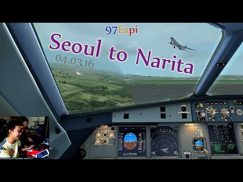 FSX Flight Seoul to Narita 04.03.16 Philippine Airlines A320