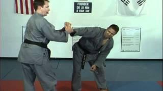 Hapkido Rear Under Arm Bear Hug Techniques 1 thru 5, Ji Han Jae