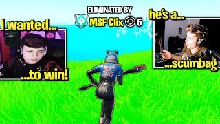 SYMFUHNY *CALLS OUT* CLIX for GRIEFING Him in Tournament! (Fortnite Trios)