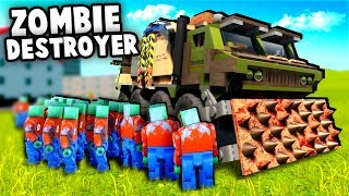 HUGE Zombie Horde vs EPIC Destroyer Tank!  (Brick Rigs Multiplayer)