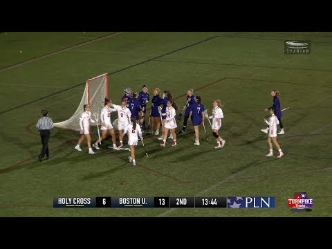 Highlights: Women's Lacrosse vs. Holy Cross 4/18/2018