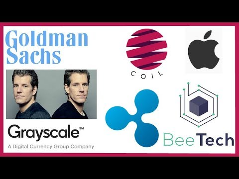 Goldman Sachs CFO Fake News - Winklevoss Twins Patent - Grayscale - Coil Apple - Ripple BeeTech